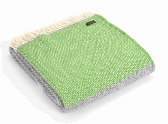 Windmill Apple Green Wool Throw / Blanket